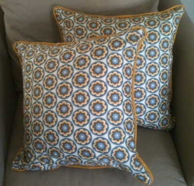 How To Make A Decorative Pillow With Piping : Throw Pillows With Piping - Fabricate
